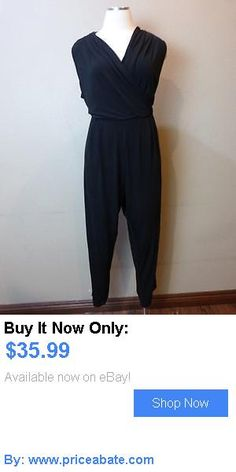 Jumpsuits And Rompers: (Nwot Lane Bryant Black V-Wrap Jumpsuit Sz 22/24) BUY IT NOW ONLY: $35.99 #priceabateJumpsuitsAndRompers OR #priceabate