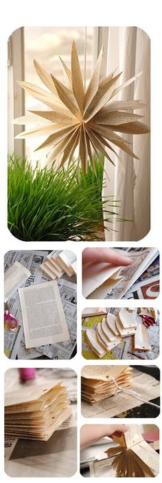 DIY :: Paper bag flower ( http://lorajeansmagazine.blogspot.ca/2008/04/paper-bag-flower-from-scratch.html )
