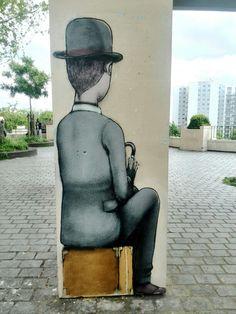 Da un muro di Parigi, rue Piat #streetart by Seth  (maggio 2014)