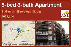 5-bed 3-bath Apartment in St Gervasi, Barcelona, Spain ►€439,200 #PropertyForSaleInSpain