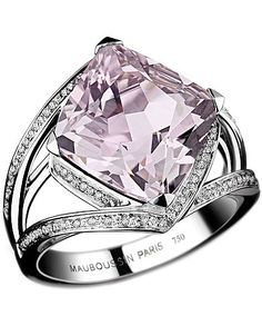 Lavender Amethyst and Diamonds Ring by Mauboussin