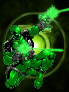 Deadpool Green Lantern mashup