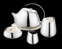 Helena Rohner designed a modern tea service that pays homage to Georg Jensen