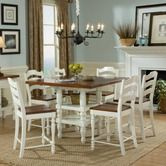 Found it at Wayfair - Concord Drop Leaf Pub Table Set in Distressed Burnished White and Cherry