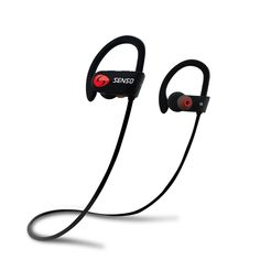SENSO ActivBuds Bluetooth Headphones, Best Wireless Sports Earphones w/ Mic Waterproof HD Stereo Sweatproof Earbuds for Gym Running Workout 8 Hour Battery Noise Cancelling Headsets (Black/Blue) Cordless Headphones, Best Bluetooth Headphones, Best Earbuds, Waterproof Headphones, Sports Headphones, In Ear Headphones, Bluetooth Gadgets, Running Headphones, Tech Gadgets