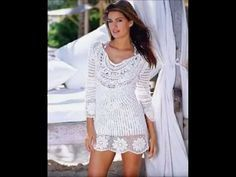 How to Crochet blouse white free pattern - YouTube