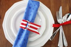 4th of July DIY Napkin Rings