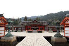 Itsukushima Sanktuarium w Japonii Zdjęcie Seryjne