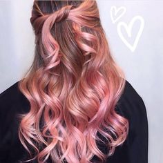 Sexy and Soft Pinks and Romantic Rose Gold (Dusty Rose Gold Hair)