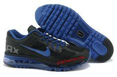 Black Royal Blue Nike Air Max 2013 Men's Running Shoes