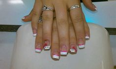 Hello kitty nails :)