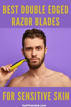 There is nothing like a classic, close shave with a double-edged safety razor. Hair Removal For Men, Hair Removal Cream, Shaving Tips, Shaving Razor, Safety Razor Blades, Shaving & Grooming, Close Shave, Coarse Hair, Unwanted Hair