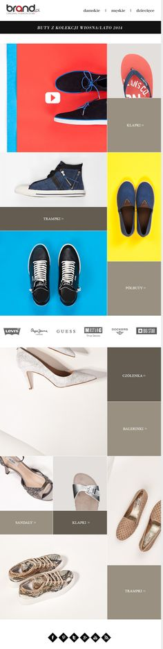 Brand.pl shoes newsletter, email design www.datemailman.com