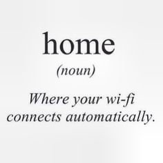 Home and wi fi