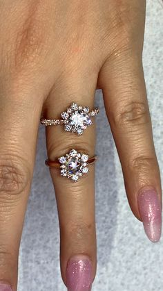 6a327c648e8d5 20 Best Snowflake Engagement Ring images in 2018 | Estate engagement ...