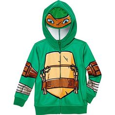 Teenage Mutant Ninja Turtles Boys' Fleece Hoodie with Mask-Green (5) -- To view further for this item, visit the image link.