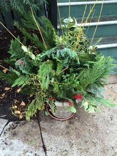 Winter arrangement.