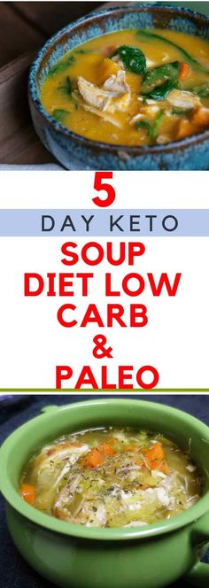 Hypoallergenic Pet Dog Food Items Diet Program 5 Day Keto Soup Diet Low Carb and Paleo Low Carb Recipes, Soup Recipes, Cooking Recipes, Healthy Recipes, Diabetic Recipes, Cooking Ideas, Lunch Recipes, Healthy Foods, Yummy Recipes