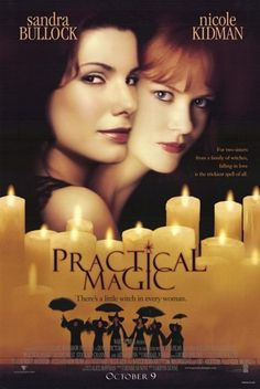 modern witches - sisters, Sally & Gillian Owens - in the 1998 movie PRACTICAL MAGIC