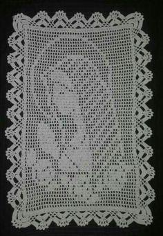Crochet Lace Edging, Thread Crochet, Crochet Doilies, Filet Crochet Charts, Crochet Diagram, Crochet Table Runner, Crochet Tablecloth, Cross Stitch Patterns, Crochet Patterns