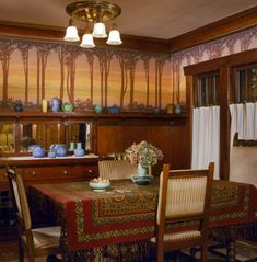Stunning Tips: Wood Wainscoting Master Bath wainscoting bathroom hallways.Types Of Wainscoting Door Trims wainscoting door simple.Types Of Wainscoting Door Trims. Craftsman Dining Room, Craftsman Interior, Craftsman Style Homes, Craftsman Bungalows, Craftsman Frames, Craftsman Bathroom, Arts And Crafts Interiors, Arts And Crafts Furniture, Arts And Crafts House