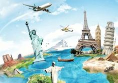 Travel - Travel destinations, ideas and hacks. Cheap Countries To Travel, Statue Of Liberty, Travel Destinations, Country, Animal, The World, Pets, Argentina, Cats