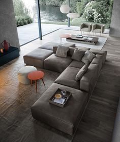 13 Modern Minimalist Sofa Design You Must Try - In the selection of living room sofa furniture, usually, homeowners often refer to interior themes that are appl Living Room Sofa Design, Living Room Accents, Living Room Modern, Home Living Room, Living Room Designs, Living Room Decor, Small Living, Couch Furniture, Living Room Furniture