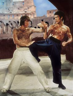 Bruce Lee, Chuck Norris - The Way of the Dragon (1972) - Retouched by: Metek Artwork-Production (2018) (On sale on Ebay in high résolution picture).