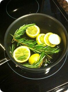 Aromatherapy...add 1 sliced lemon, some rosemary, and 2 tsp vanilla with a pot of water.  Simmer all day on low...smells SO good and springy!