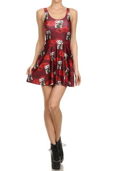 Lucky Cat Skater Dress. Shop now at POPRAGEOUS.com!