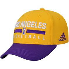 Los Angeles Lakers adidas Youth Practice Adjustable Hat - Gold/Purple - $19.99