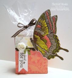 Stamp and cut the Swallowtail stamp apart to create a different look.