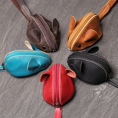 Cute Coin Purse, Animal Bag, Leather Key, Change Purse, Kids Bags, Cute Bags, Leather Craft, Handmade Leather, Saddle Bags