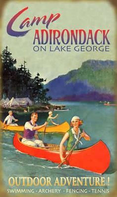 Vintage Adirondack souvenirs - Bing Images @soycecily but with lots of falling on rocks                                                                                                                                                                                 More