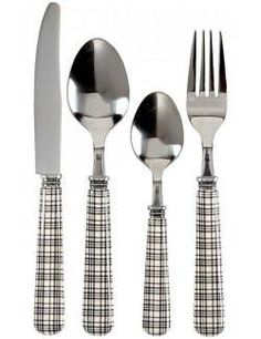 Country Chic Plaid Stainless Flatware