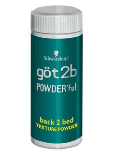 got2b Powder'ful Back 2 Bed Texture Powder: Simply scrunch this dust into your hair (starting at your roots and working your way down) to get instant, sexy texture.   $9.94; amazon.com #lazygirl #hair