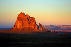 Navajo Sunset Light  The warm sunset light bathes an land feature on the Navajo Nation