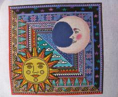 Needlepoint Mindy Canvas Sun and Moon