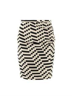 Tantalo optical-print skirt   Weekend Max Mara   MATCHESFASHIO...