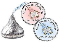108 Baptism Christening Party Favors Hershey Kiss Labels   eBay