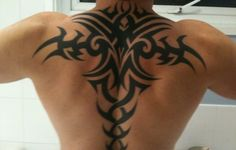 upper back tribal tattoos for men