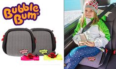 The award-winning BubbleBum is the world's first inflatable car booster seat for kids aged 4-11 and weighing 15-36 Kgs. BubbleBum is perfect for everyday use, holidays, rental cars, taxis & carpooling! The seats narrow design also makes fitting three car seats across the back seat easy. Closing Date 21 November 2014