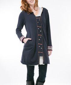 Look at this #zulilyfind! Navy Twist Coat by Ribbonwork Clothing, $43 !!   #zulilyfinds
