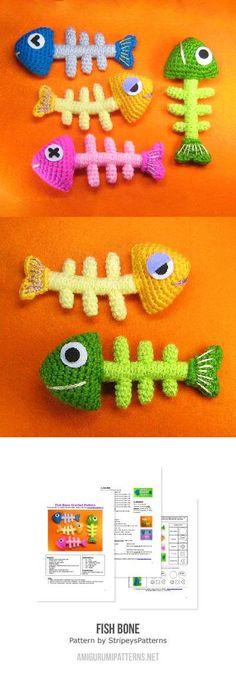 Fish Bone Amigurumi Pattern