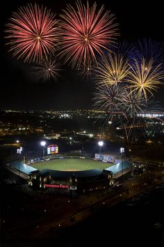 Fireworks at Hammons Field in Springfield, MO