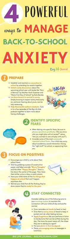 4 Powerful Ways to Manage Back-to-School Anxiety in Kids – Big Life Journal Fear Of School, First Day Of School, Back To School, Starting Kindergarten, Kindergarten First Day, Social Skills Lessons, The Kissing Hand, Kids Mental Health