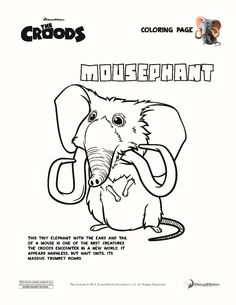 mousephant the croods coloring page
