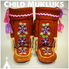 Child #mukluks made the Whatì Sewing Group - going up this week before the holidays!
