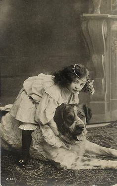 Girl with big dog  Big Dogs = Man's Best Friend / www.PetWellbeing.org
