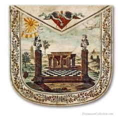 A Masonic Apron with a bust of Washington & Lafayette'. Masonic Aprons XVIIIth Century ...